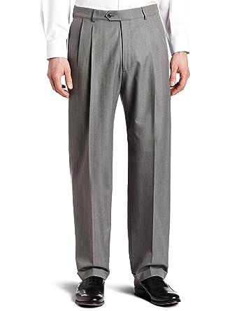 Haggar Men S Pleat Front Cuffed Suit Separate Pant At Amazon Men S