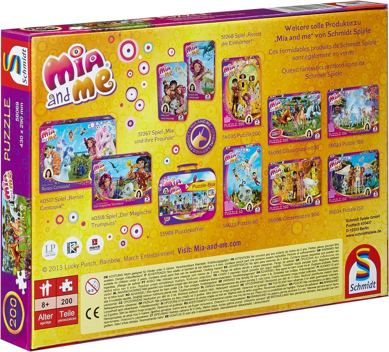 200-Piece in Centopia Glitter Puzzle Schmidt Spiele 56069 Mia und Me