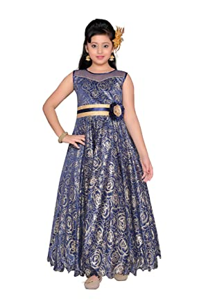f061267e2d0 Adiva Girl s Indian Party Wear Gown for Kids  Amazon.co.uk  Clothing