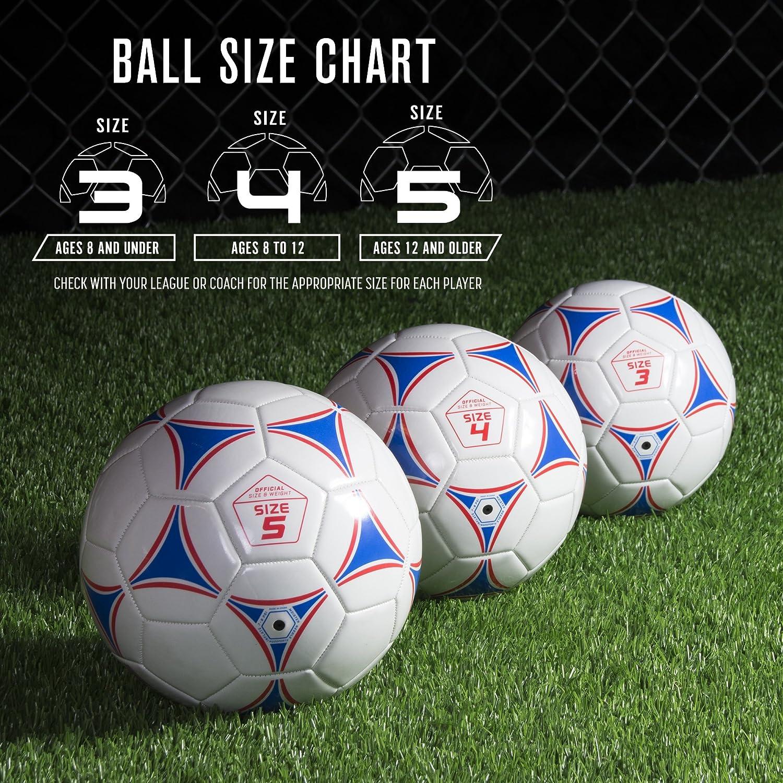 Amazon.com : GoSports Premier Soccer Ball with Premium Pump ...