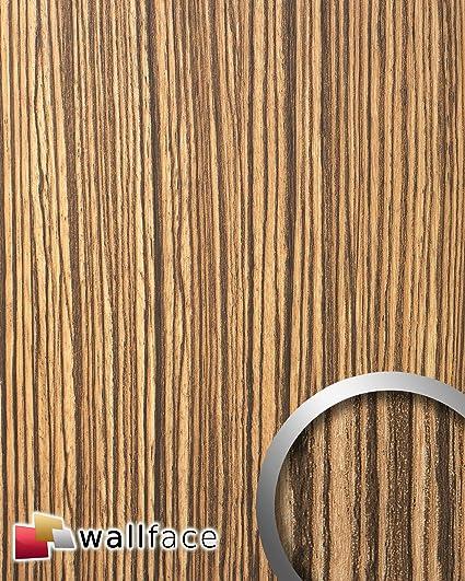 Wallface 12442 Wood Zebrano Pannello Effetto Legno Rivestimento