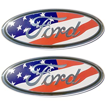 Amazon 2005 2014 Ford F150 Red White And Blue Usa Oval 9 X 35