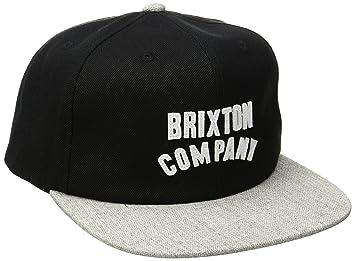 Brixton Wood Burn Snapback - Gorra para Hombre, Hombre, Woodburn Snapback, Black/Light Heather Grey, Talla única: Amazon.es: Deportes y aire libre