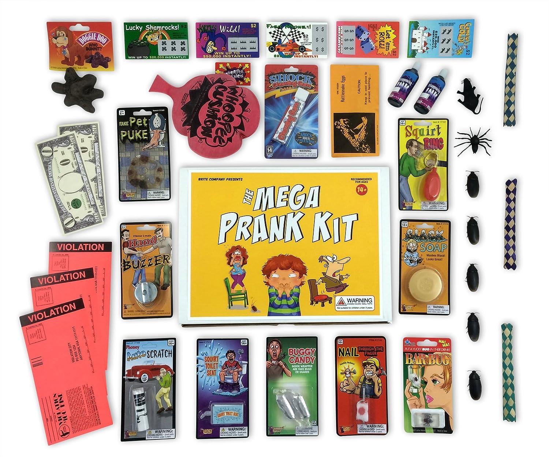 Amazon.com: The Mega Prank Kit - 35 Funny Pranks and Jokes in a Gift ...