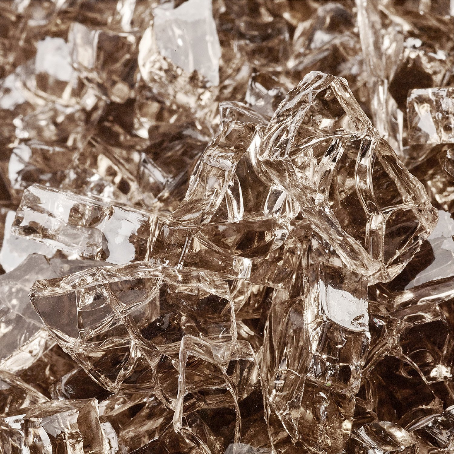3//4 Inch Fire Glass Beads for Indoor and Outdoor Fire Pits or Fireplaces Snow White 10 Pounds