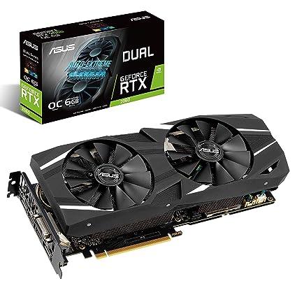 ASUS DUAL-RTX2060-O6G - Tarjeta gráfica (NVIDIA GeForce RTX 2060, 6 GB, GDDR6, 32 bit, 7680 x 4320 Pixeles)