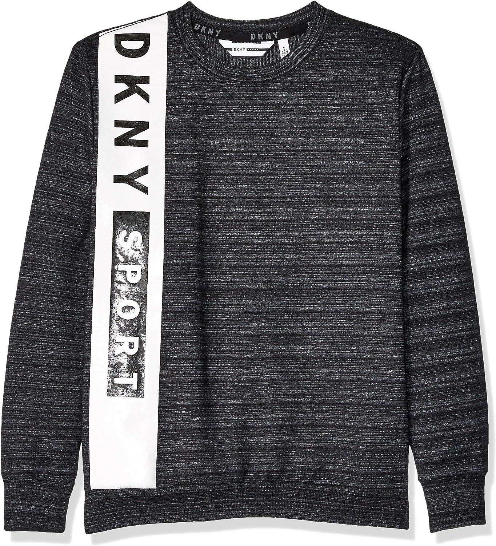 DKNY Boys Big French Terry Pop Over Sweatshirt
