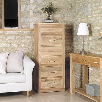stunning baumhaus mobel solid oak baumhaus mobel oak tallboy 6 drawer sethcohomestores baumhaus mobel oak tallboy