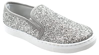 Sneakers for Women On Sale, Silver, paillettes, 2017, 3.5 4.5 5.5 7.5 2Star