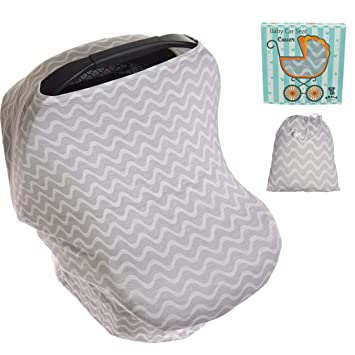 Koala Little Stretchy 4 in 1 Car Seat Canopy Nursing Breastfeeding Cover Grey and White  sc 1 st  Amazon.com & Amazon.com: Koala Little Stretchy 4 in 1 Car Seat Canopy Nursing ...