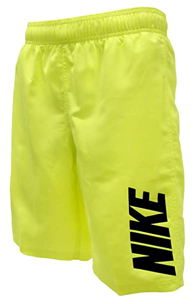 9824d567bd Image Unavailable. Image not available for. Color: NIKE Boys' 8 in Logo Volley  Swim Shorts ...