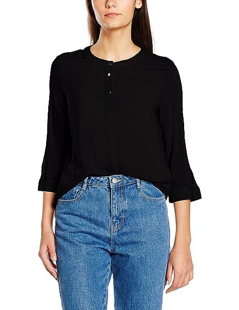 Vero Moda VMBENITA 3/4 Shirt NFS, Blusa Mujer, Negro (Black)