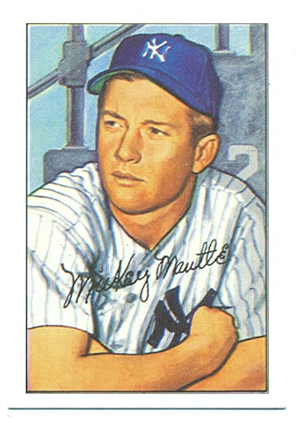 1952 Bowman Reprint Mickey Mantle 101 Original Size New York