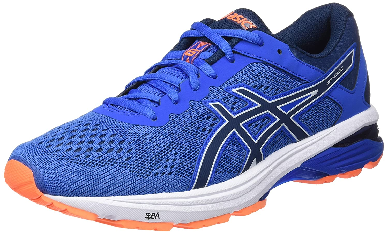 Asics Gt-1000 6, Zapatillas de Running para Hombre 46.5 EU|Azul (Victoria Blue/Dark Blue/Shocking Orange 4549)