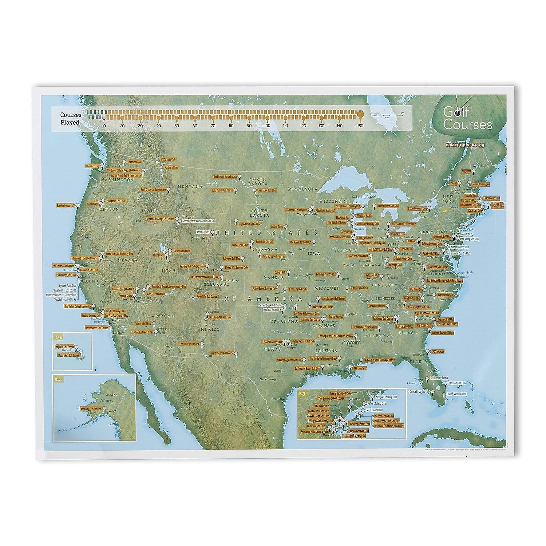 Amazon.com: Maps International - Scratch Off USA Map Golf Print - 22 ...