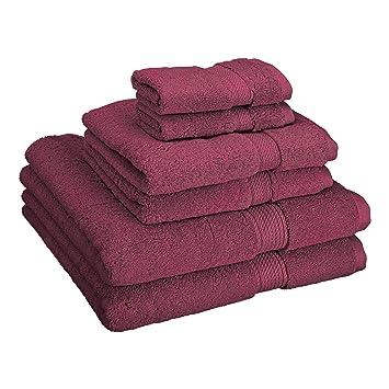 Superior - Juego de Toallas de algodón de 900 g/m2, Color Morado Ciruela, 6 Piezas: Amazon.es: Hogar