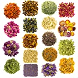 Dried Herbs and Flowers for Witchcraft Spells - Pack of 18 Variety Bulk Real Dry Flower Bags - Great for DIY Candle Making Ki