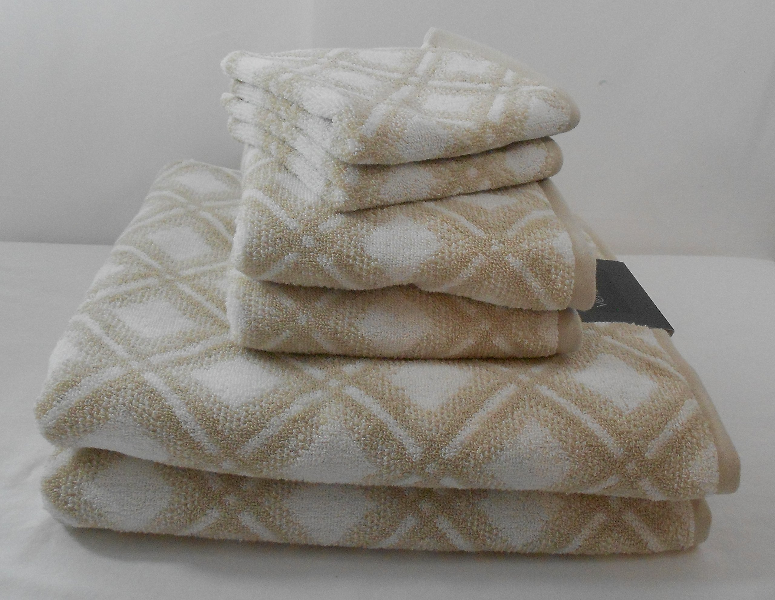Hotel Vendome Diamond Design Towel Set 6 Pieces