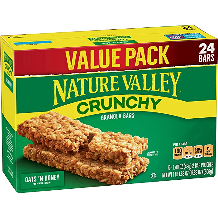 Nature Valley Granola Bars, Crunchy Oats 'n Honey, 17.88 oz