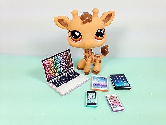 LPS Littlest Pet Shop 5 Accessories Lot Set Laptop, 2 Tablets, 2 Phones PET NOT INCLUDED