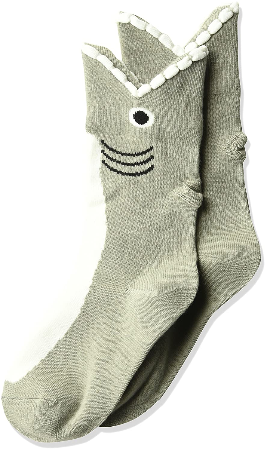 K. Bell Socks unisex-child Big Kids Novelty Wide Mouth Crew Gray Heather Lobster 6-8.5 KBKF15H006-01
