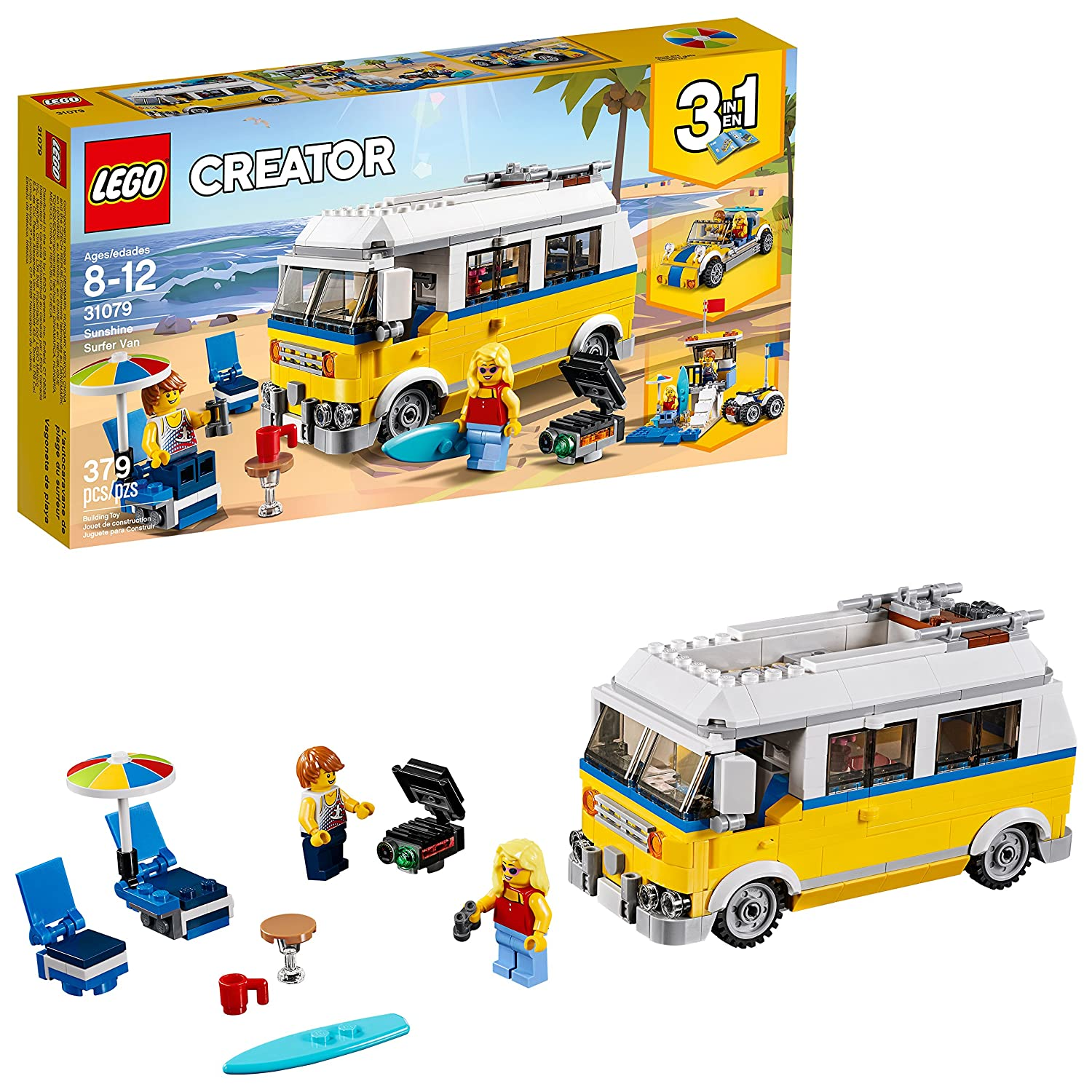 LEGO Creator 3in1 Sunshine Surfer Van 31079 Building Kit (379 Piece)