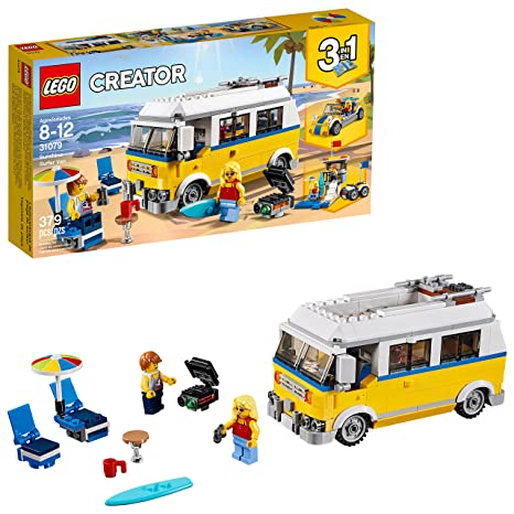 7c96fe254e Amazon.com  LEGO Creator 3in1 Sunshine Surfer Van 31079 Building Kit (379  Piece)  Toys   Games