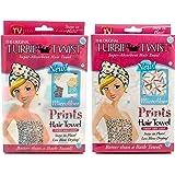 Turbie Twist Microfiber Super Absorbent Hair Towel (2 Pack) Cupcakes / Sprinkles