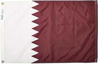 product image for Annin Flagmakers Model 196875 Qatar Flag Nylon SolarGuard NYL-Glo, 2x3 ft, 100% Made in USA to Official United Nations Design Specifications