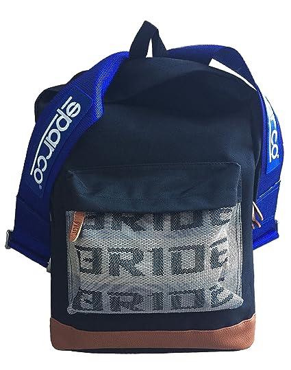 precio competitivo 74ea2 73aff Bride JDM sparco Blue Harness Backpack Mochila con azul ...