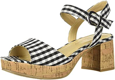 1c1105c491 CL by Chinese Laundry Women's Kensie Heeled Sandal, Black Gingham, ...