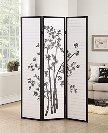 Fabulous Roundhill Furniture 3 Panel Oriental Shoji Room Divider Screen Black Home Interior And Landscaping Analalmasignezvosmurscom