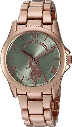 U.S. Polo Assn. Women's Analog-Quartz Watch with Alloy Strap, Rose Gold, 15 (Model: USC40039)