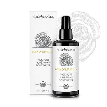 Alteya Organic Agua Floral de Rosa (Rosa Damascena) 200 ml – Spray (Vidrio
