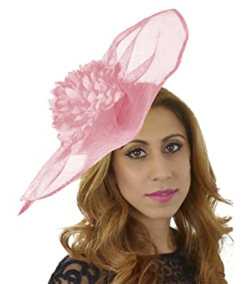 Gorgeous Mandhoo Baby Pink Large Ascot Derby Fascinator Hat - with Headband 1a2b9d0fd0a