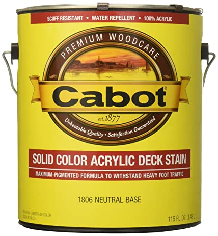 cabot stains 1806 acrylic decking stain exterior with neutral opaque