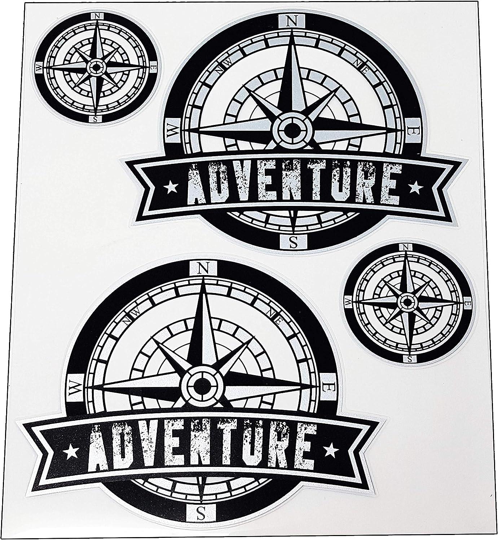 Quattroerre 9168 Kit Adventure Pegatinas para baúles de Moto