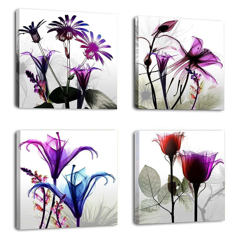 Natural Art U2013 4 Panels Huge Modern Giclee Prints Artwork Multi Flowers  Pictures Photo Paintings Print