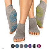 Gaiam Yoga Socks - Toeless Grippy Non Slip Sticky Grip Accessories for Women & Men