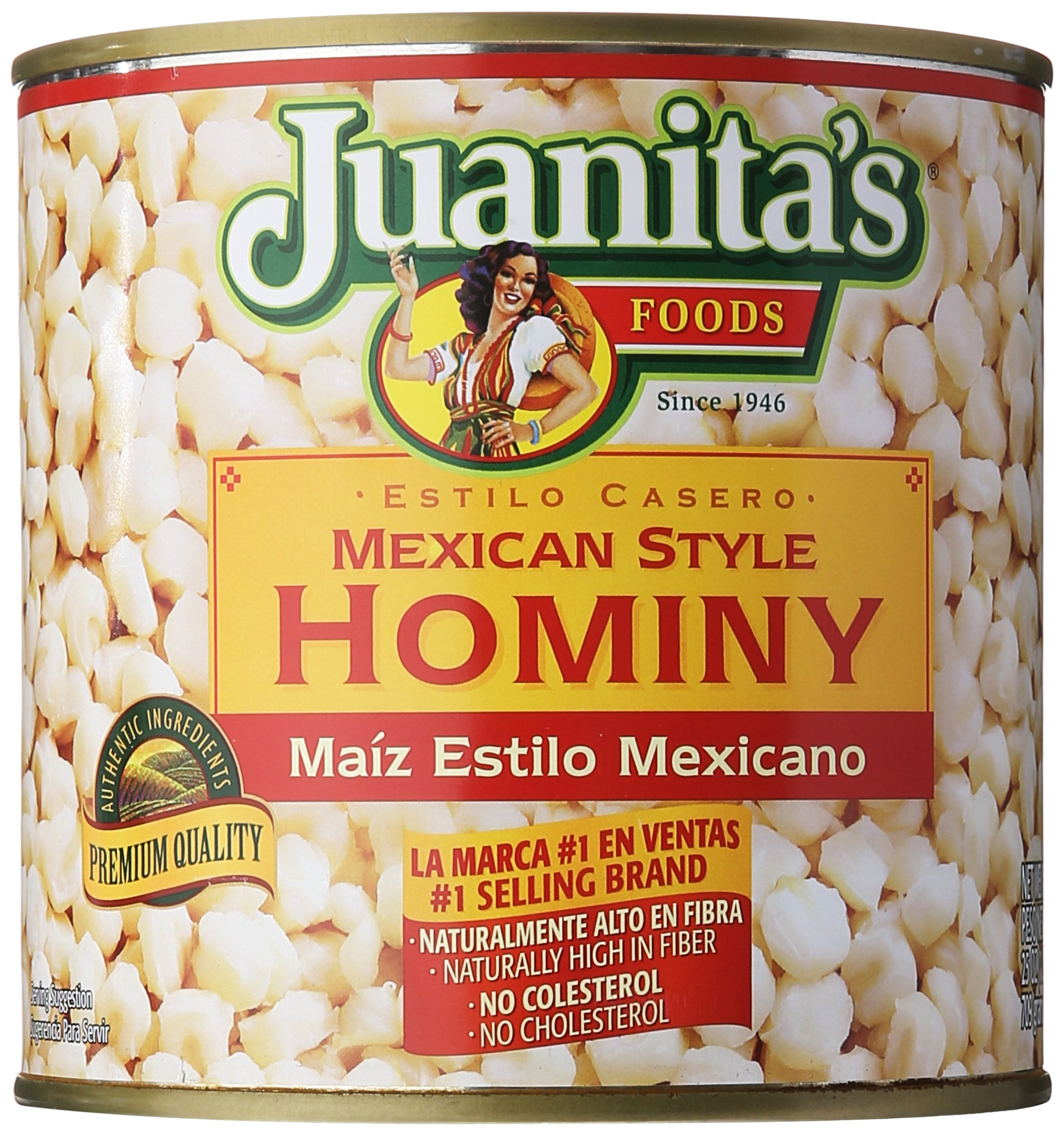 Juanita's Foods Mexican Style Hominy, 25 oz