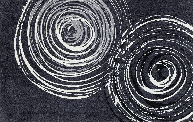 Wash+dry Fußmatte, Polyester, Grau, 110 x 175 cm