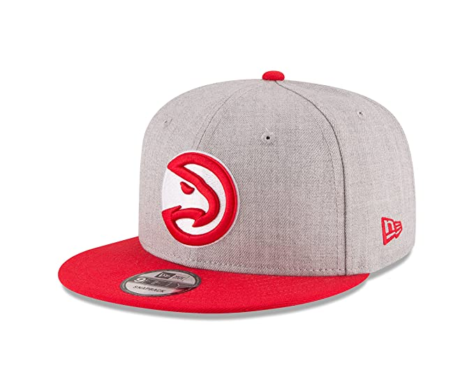 34fac9c8 New Era NBA Atlanta Hawks Men's 9Fifty 2Tone Heather Snapback Cap, One  Size, Heather