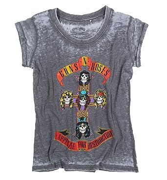 2c64879da Rock Off Womens Guns N Roses Appetite for Destruction Burn Out T ...