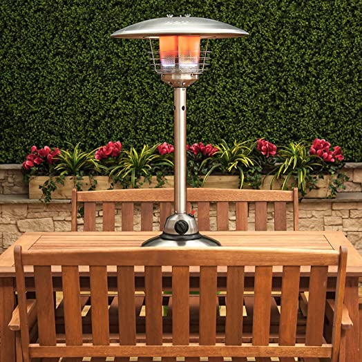 Table Top Gas Patio Heater   Stainless Steel