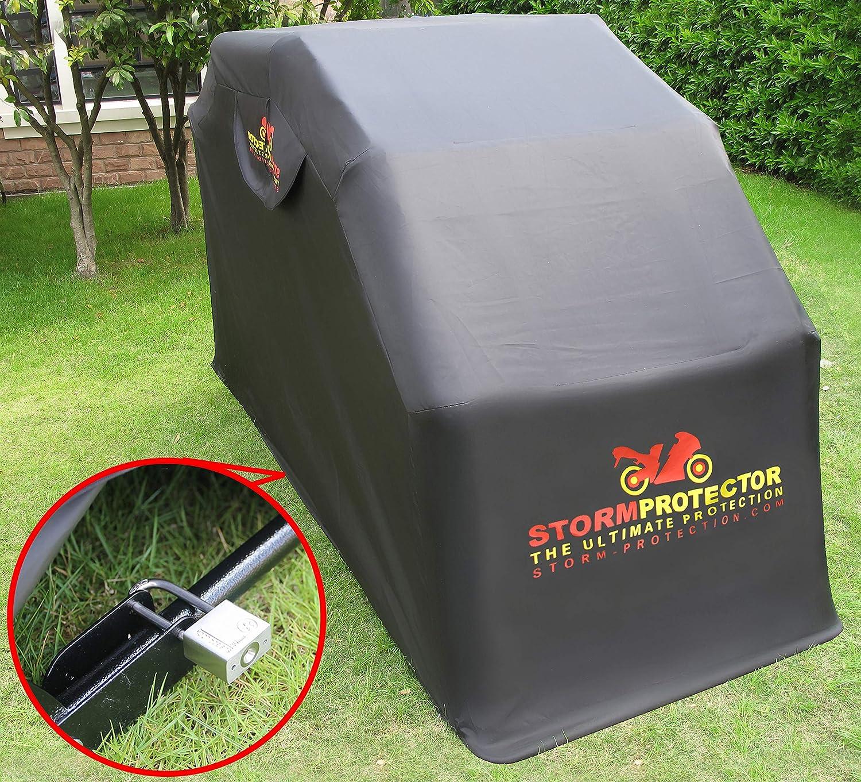Stormprotector Abschließbar Motorradunterstand Standardgröße Mobilität Rollerabdeckung Mit Abgeschrecktem Stahlrahmen Gehärteter Stahl Wasserdicht Auto