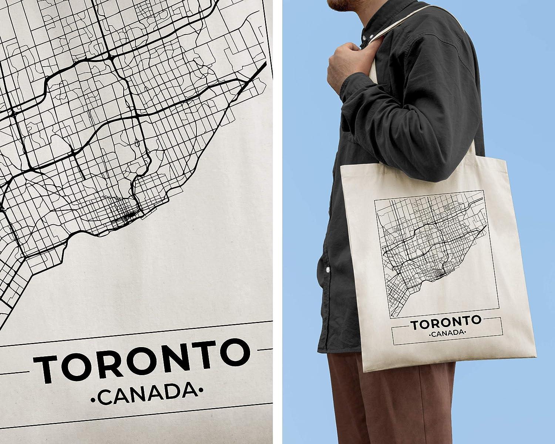 Toronto Canada City - Bolsa para mapa de la calle (5 estilos)