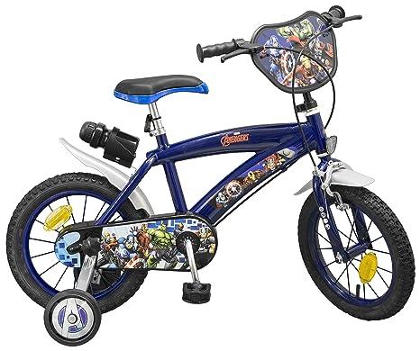 """Carrefour 864 Niños Ciudad 14"""" Acero Azul, Multicolor, Rojo bicicletta - Bicicleta ("""