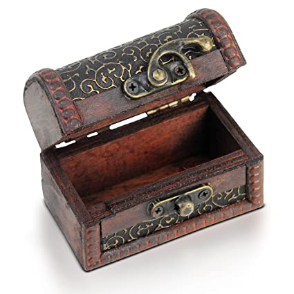 Brynnberg Wooden Pirate Treasure Chest Small Decorative Storage Interesting Small Decorative Storage Boxes With Lids