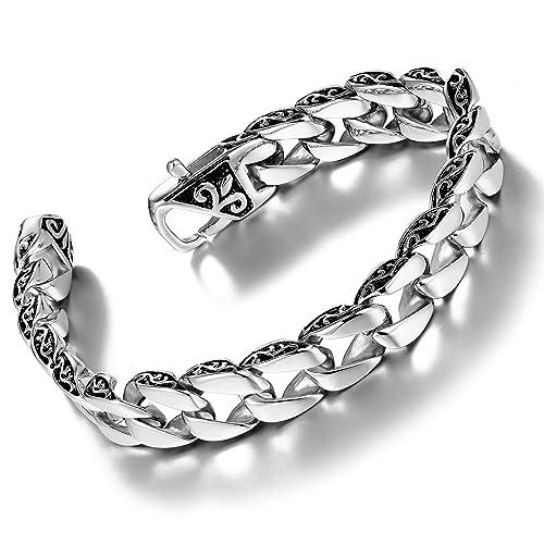 Amazon.com: Urban Jewelry - Pulsera de eslabones de acero ...