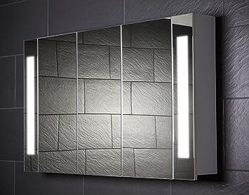 Spiegelschrank bad holz weiß  Galdem CURVE120 Spiegelschrank, holz, 120 x 70 x 15 cm, weiß ...